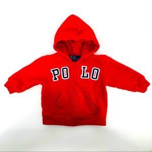 Polo by Ralph Lauren hoodie medium, 12 mo to 18 mo